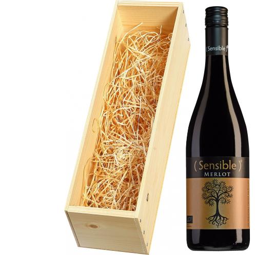 Wijnkist met Sensible Pays d'Oc Merlot