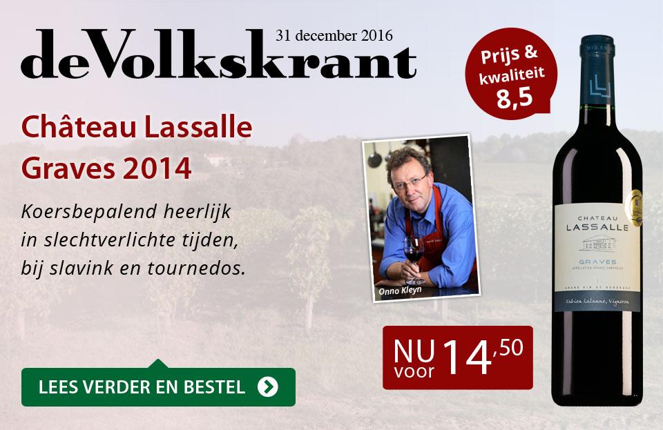 De Volkskrant - Chateau Lassalle Graves 2014 - rood