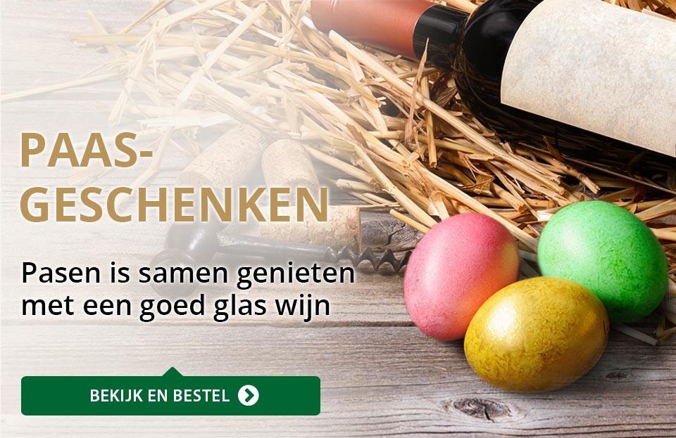 Wijngeschenken - Pasen - goud/zwart