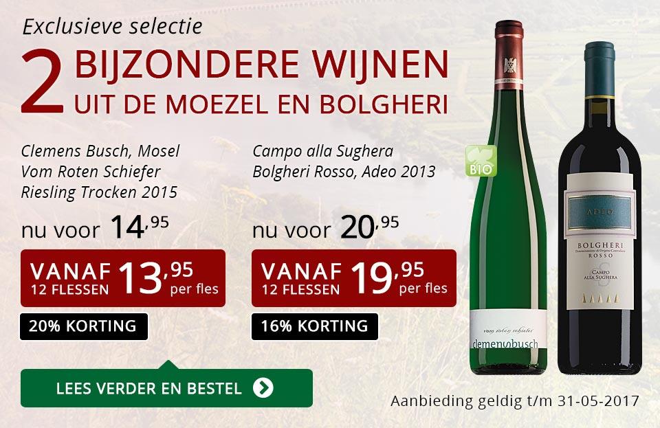 Exclusieve wijnen mei 2017 - rood