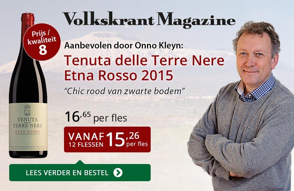 Volkskrant Magazine: Tenuta delle Terre Nere Etna Rosso - rood