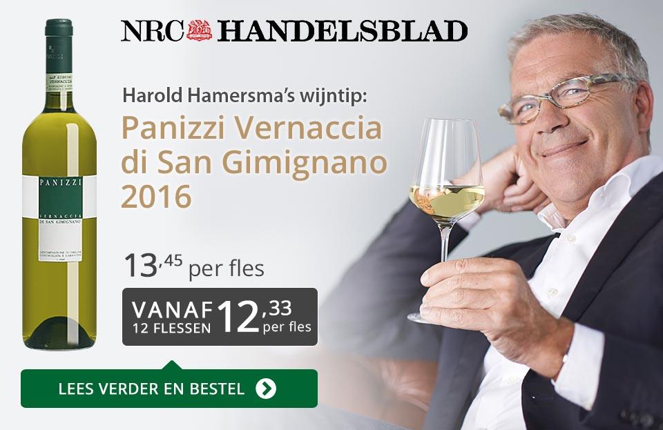 NRC Handelsblad: Panizzi Vernaccia di San Gimignano - grijs/goud