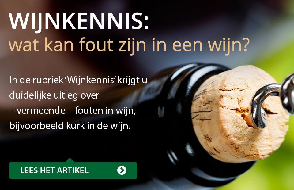 Wijnkennis: wat kan fout zijn in een wijn?