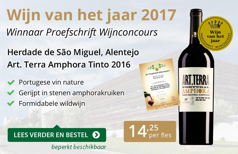 Proefschrift Wijn van het jaar 2017 - goud/zwart
