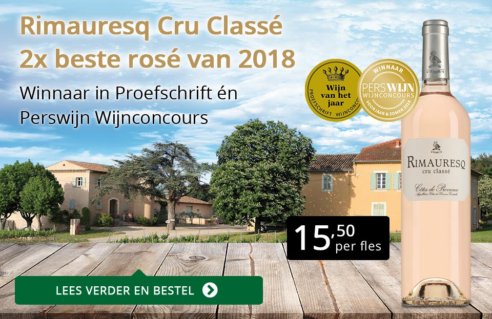 Rimauresq Cru Classé tweemaal beste rosé - zwart/goud