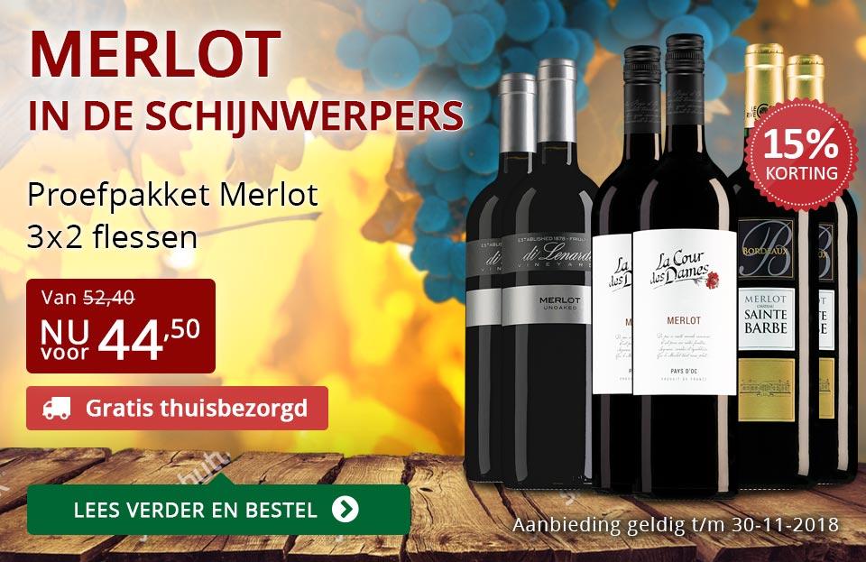 Proefpakket Merlot (Gratis thuisbezorgd) - rood