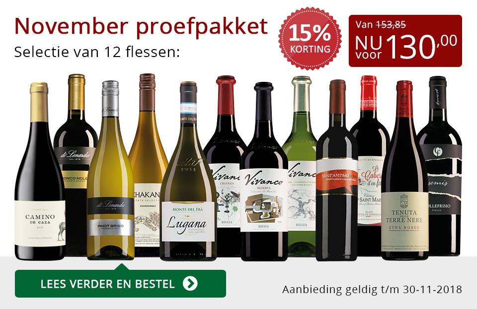 Proefpakket wijnbericht november 2018 (130,00) - rood