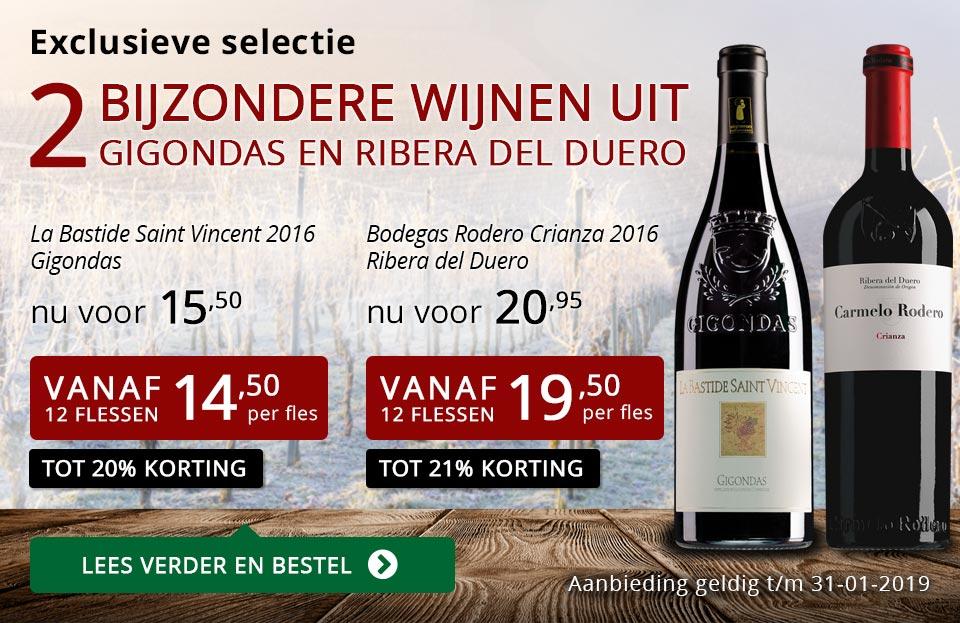 Twee bijzondere wijnen januari 2019 - rood