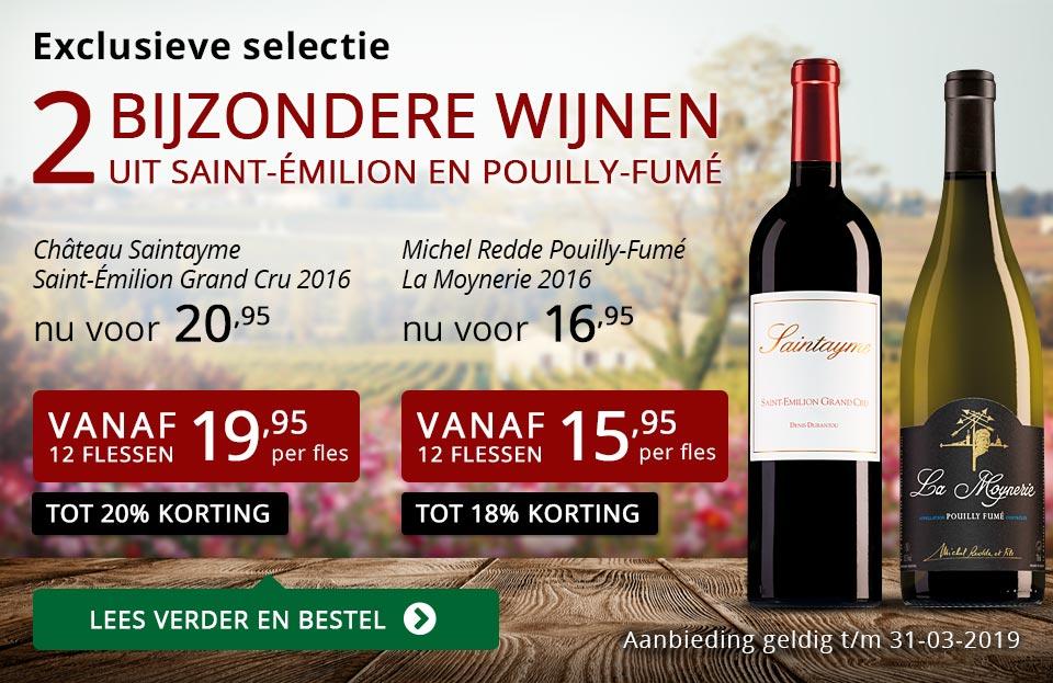 Twee bijzondere wijnen maart 2019 - rood