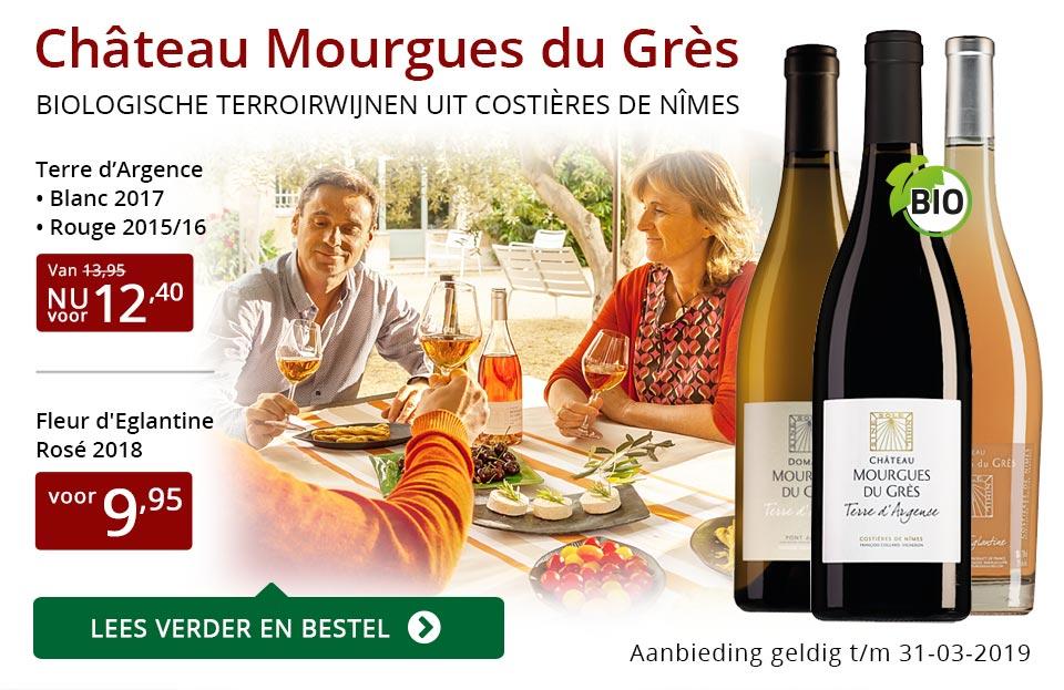 Château Mourgues du Grès wijnen in Perswijn - rood