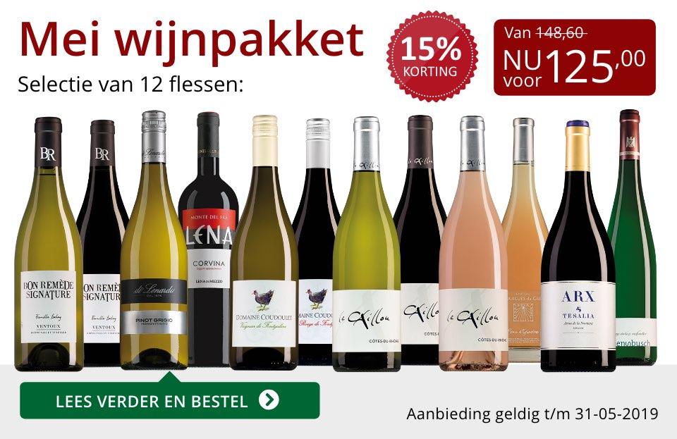 Wijnpakket wijnbericht mei 2019 (125,00) - rood