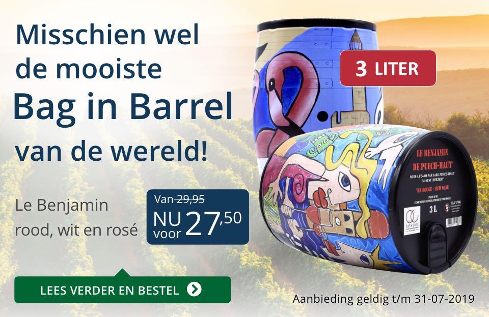 Bag in Barrel Le Benjamin- blauw