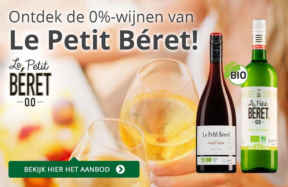 Le Petit Béret: hét alcoholvrije alternatief voor wijn - goud/grijs