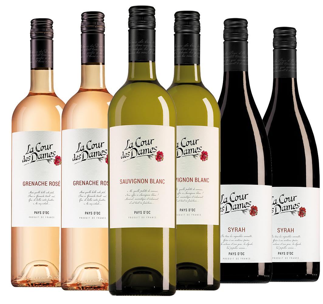 Wijnpakket La Cour des Dames (3x2 flessen)