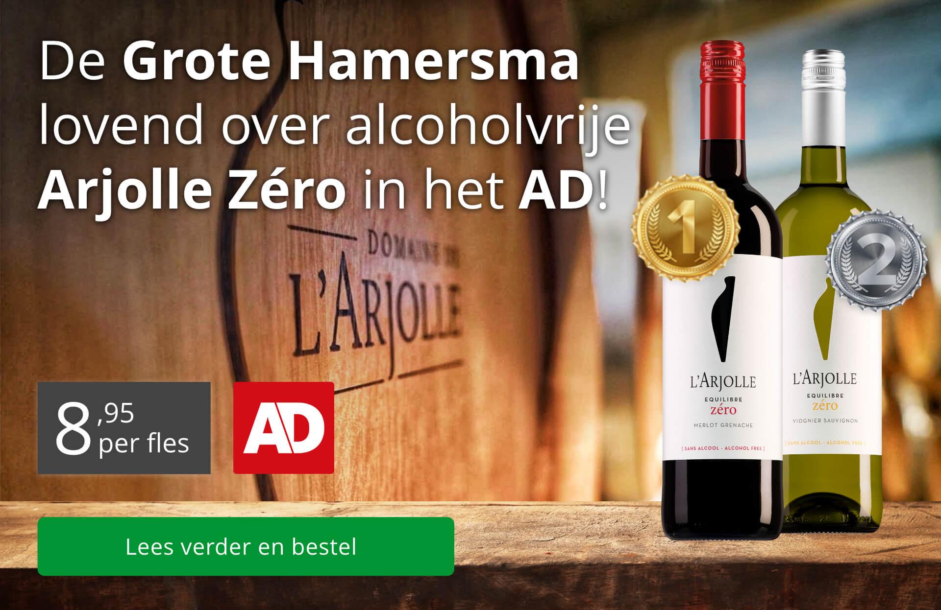 AD vermelding - Arjolle Zéro-wijnen