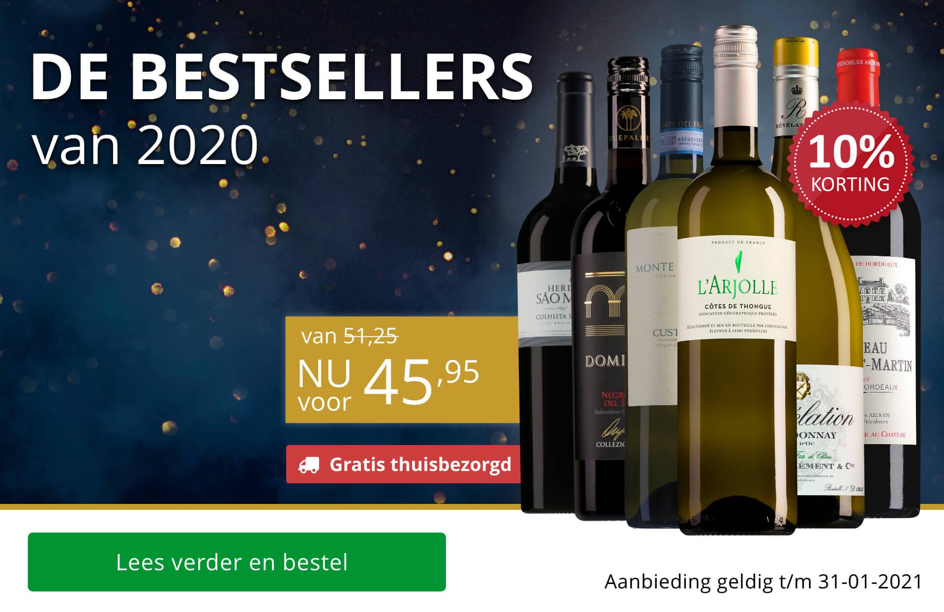Wijnpakket Bestsellers van 2020 (Gratis thuisbezorgd)