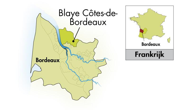 Château Cap Saint Martin Blaye Côtes de Bordeaux halve fles