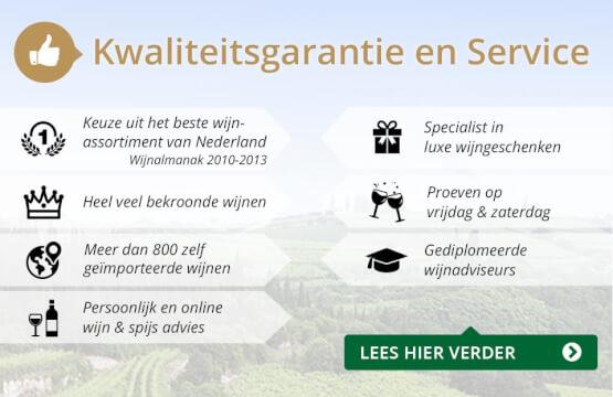 Kwaliteitsgarantie en Service - goud/zwart