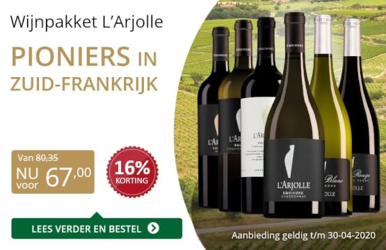 Wijnpakket l'Arjolle(67,00)-goud/zwart